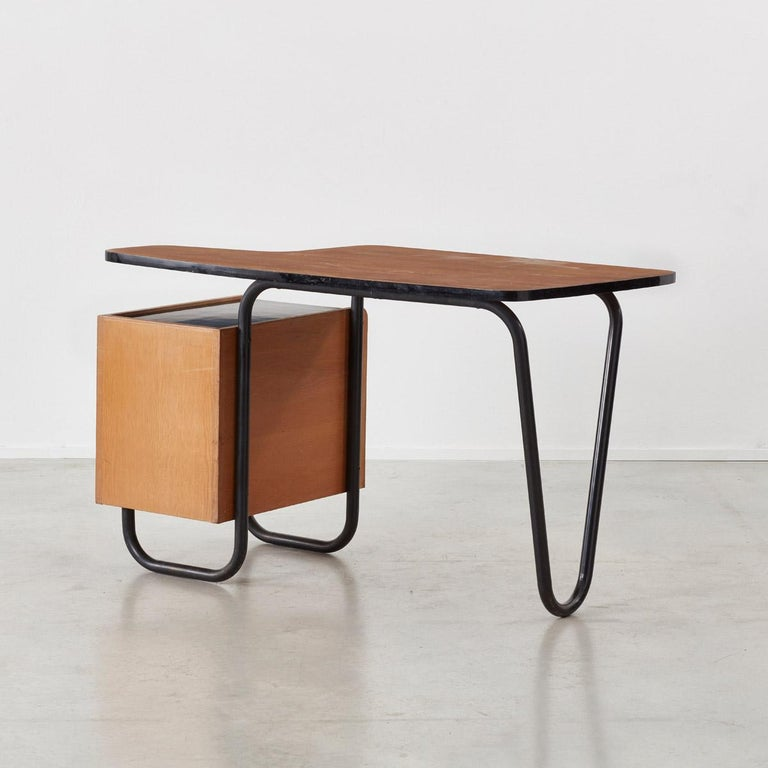 Mid-Century Modern Jacques Hitier Desk for Mobilor, France, circa 1950 For Sale