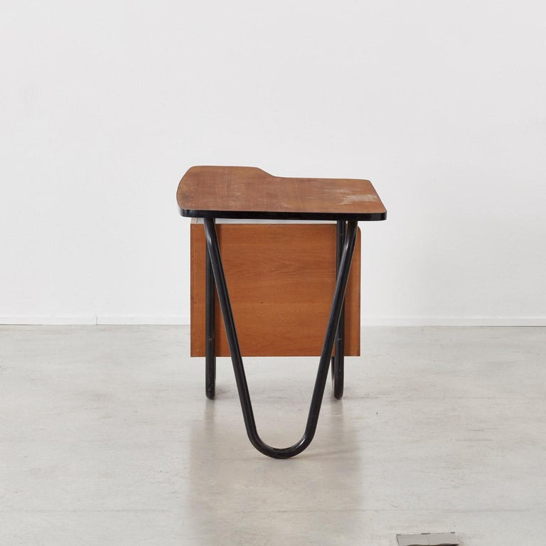 Jacques Hitier Desk for Mobilor, France, circa 1950 In Good Condition For Sale In London, GB