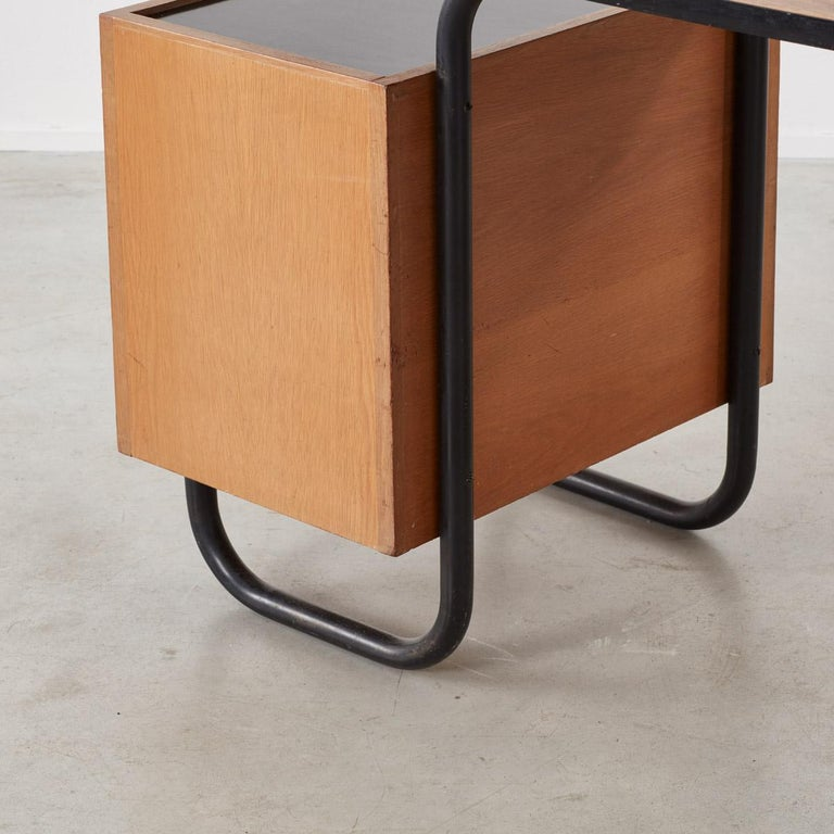20th Century Jacques Hitier Desk for Mobilor, France, circa 1950 For Sale
