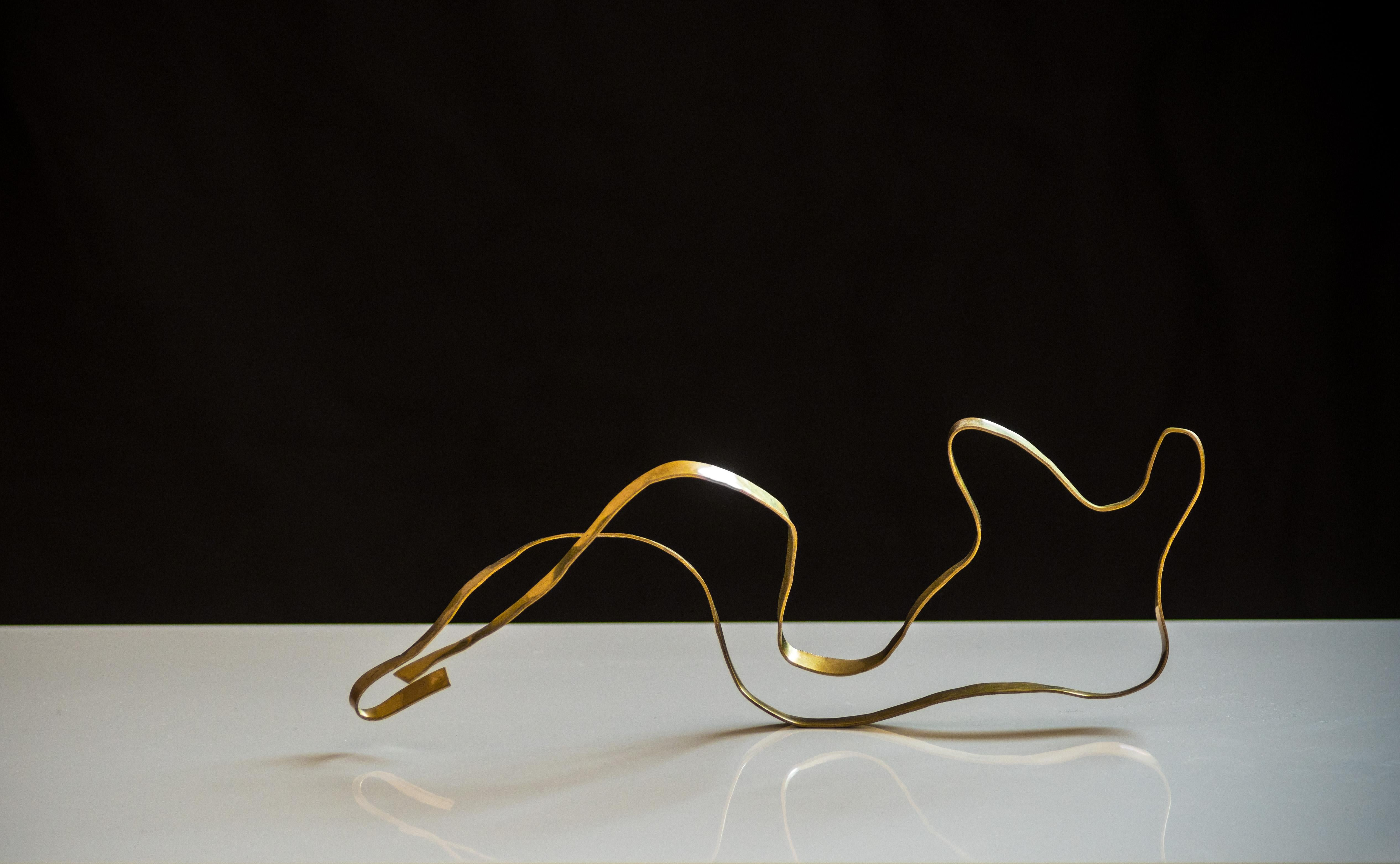 """Sculpture in brass """"Angel #8"""" by Jacques Jarrige"""