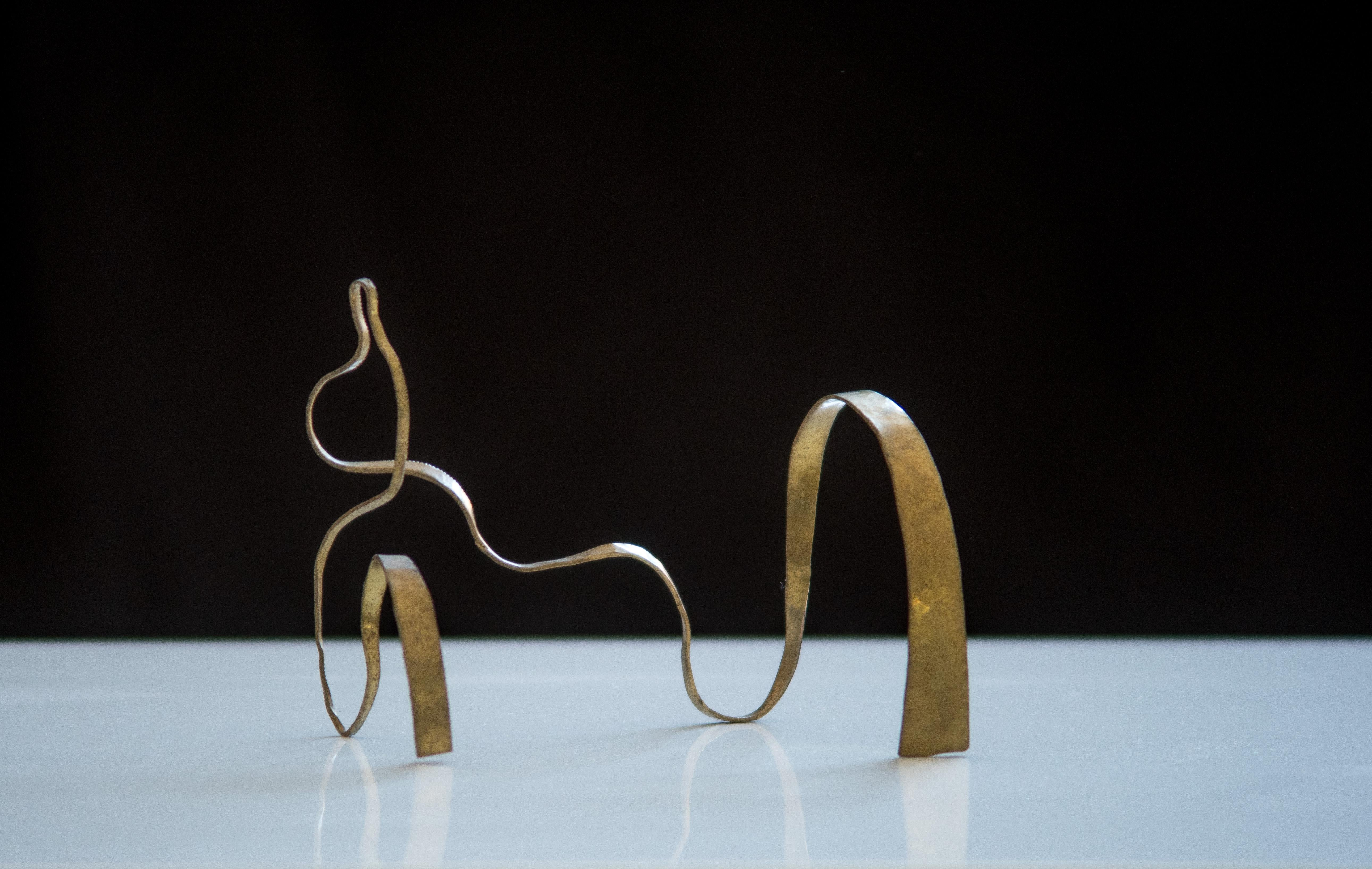 """Sculpture in Brass by Jacques Jarrige """"Angel #1"""""""