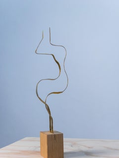"Sculpture in brass by Jacques Jarrige ""Angel #12"""