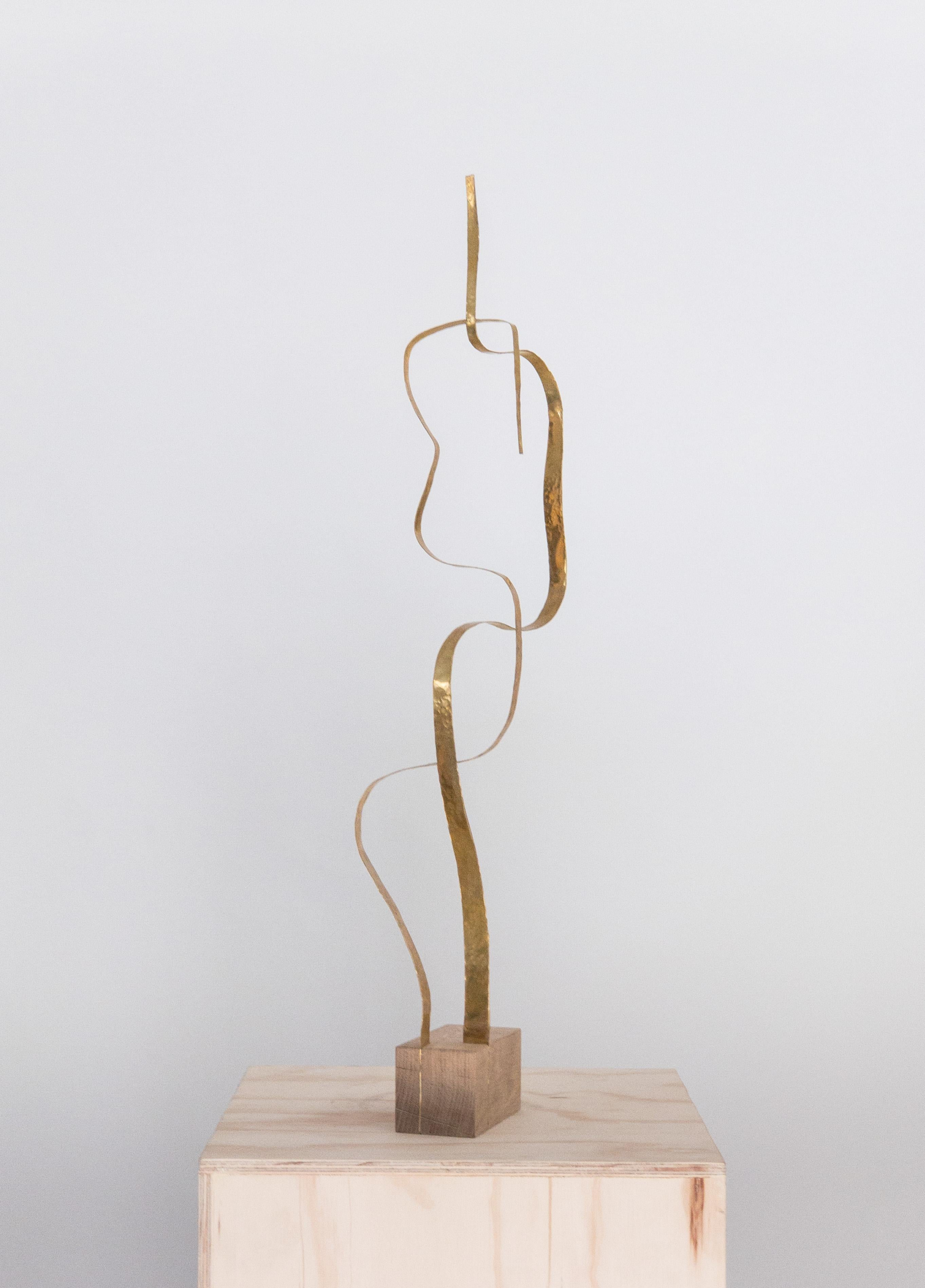 """Sculpture in Brass by Jacques Jarrige """"Angel #13"""""""
