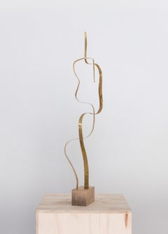 "Sculpture in Brass by Jacques Jarrige ""Angel #13"""