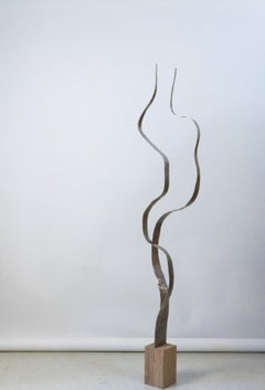 "Tall Sculpture in Aluminum by Jacques Jarrige ""Angel #18"""