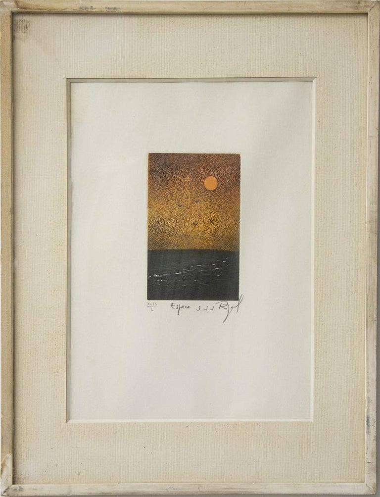 Espace  - Original Etching by Jacques Joachim Jean Rigal -  1980s For Sale 1