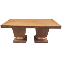 Jacques Klein, Art Deco Oak Table, circa 1939