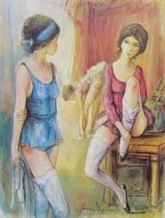 Apres de la Danse, Original Lithograph, Jacques Lalande