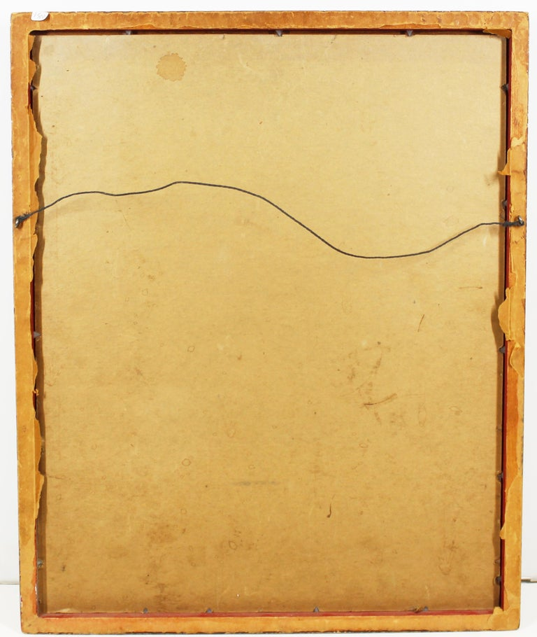 Paper Jacques Le Roux French Abstract Modernist Mixed-Media Painting For Sale