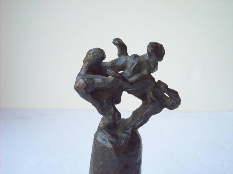 Unknown Jacques Lipchitz Signed Initial Bronze Title, Samson Fighting the Lion For Sale