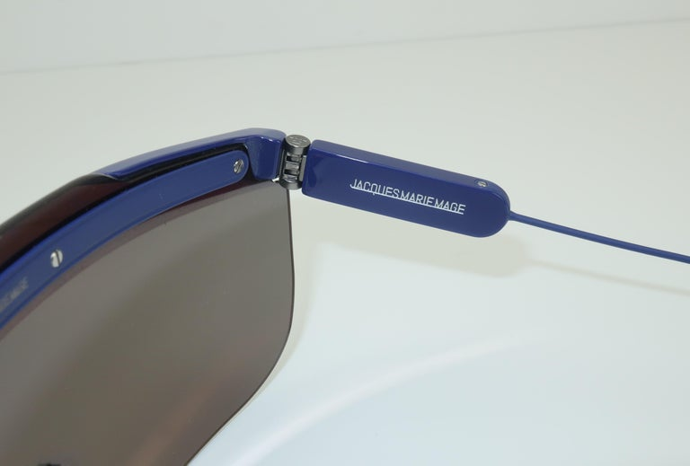 Jacques Marie Mage 'Connie' Space Age Blue Sunglasses For Sale 8