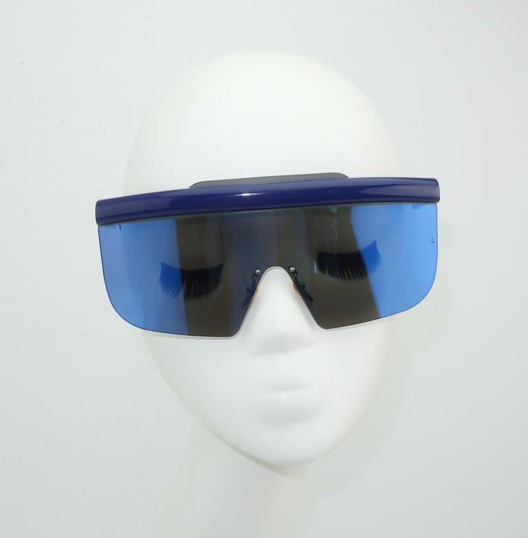 Women's or Men's Jacques Marie Mage 'Connie' Space Age Blue Sunglasses For Sale