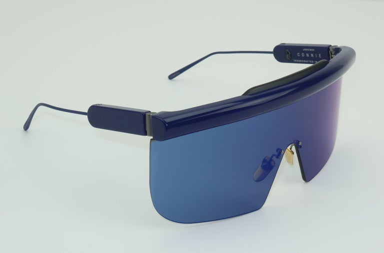 Jacques Marie Mage 'Connie' Space Age Blue Sunglasses For Sale 3