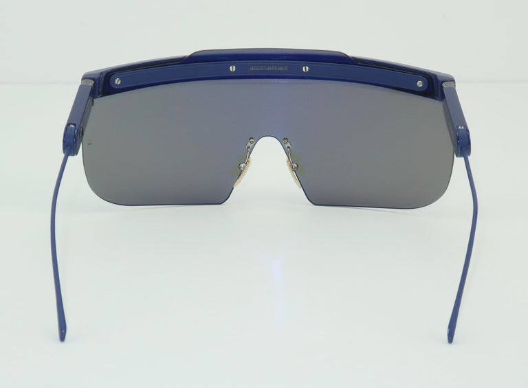 Jacques Marie Mage 'Connie' Space Age Blue Sunglasses For Sale 4