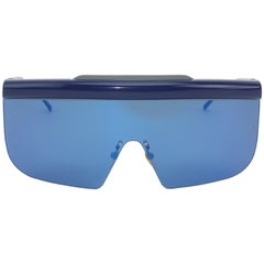 Jacques Marie Mage 'Connie' Space Age Blue Sunglasses
