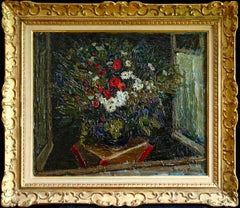 Fleurs - Post Impressionist Oil, Still Life Flowers - Jacques Martin-Ferrieres