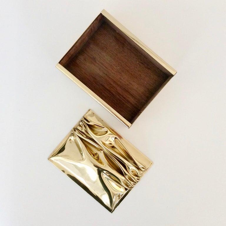 Jacques Moniquet Decorative Brass Box for Cheret, circa 1970, France For Sale 3