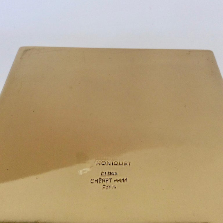 Jacques Moniquet Decorative Brass Box for Cheret, circa 1970, France For Sale 4