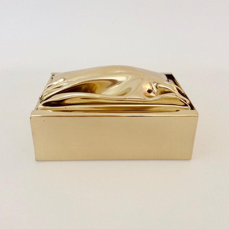 Jacques Moniquet Decorative Brass Box for Cheret, circa 1970, France For Sale 5