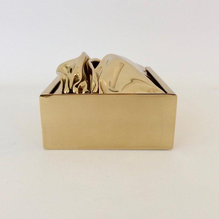 Jacques Moniquet Decorative Brass Box for Cheret, circa 1970, France For Sale 6