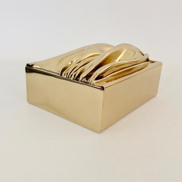 Jacques Moniquet Decorative Brass Box for Cheret, circa 1970, France For Sale 8