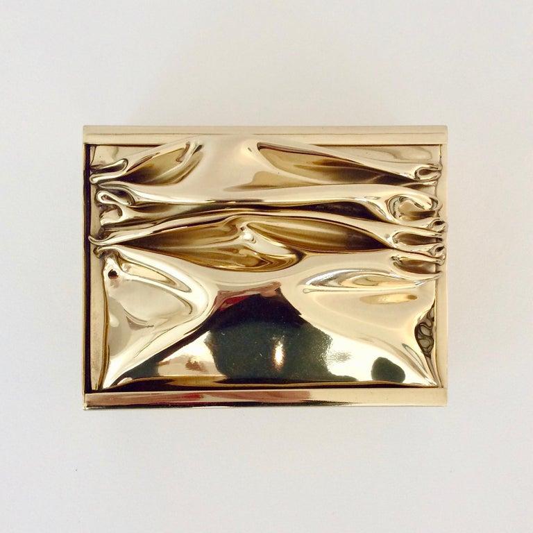 Mid-Century Modern Jacques Moniquet Decorative Brass Box for Cheret, circa 1970, France For Sale