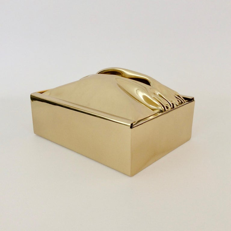 Jacques Moniquet Decorative Brass Box for Cheret, circa 1970, France In Good Condition For Sale In Brussels, BE