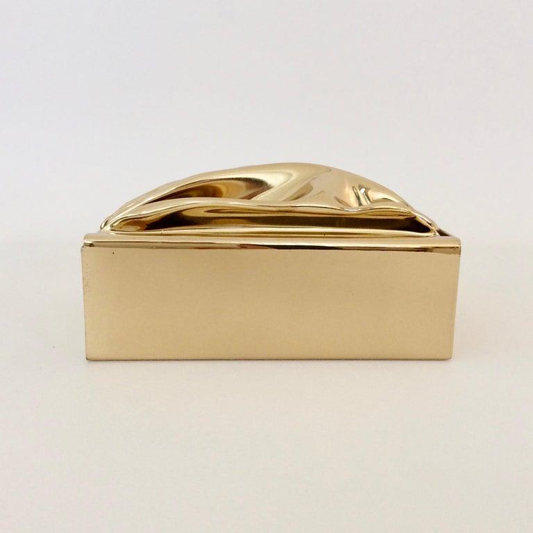 Jacques Moniquet Decorative Brass Box for Cheret, circa 1970, France For Sale 1