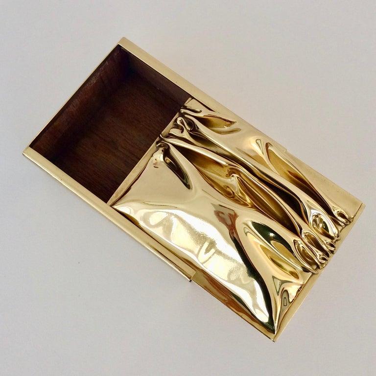 Jacques Moniquet Decorative Brass Box for Cheret, circa 1970, France For Sale 2