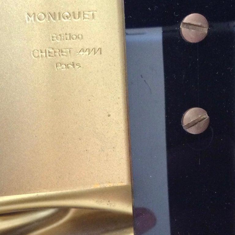 Jacques Moniquet Pair of Brass Sconces for Cheret AAM Paris, circa 1975, France For Sale 4