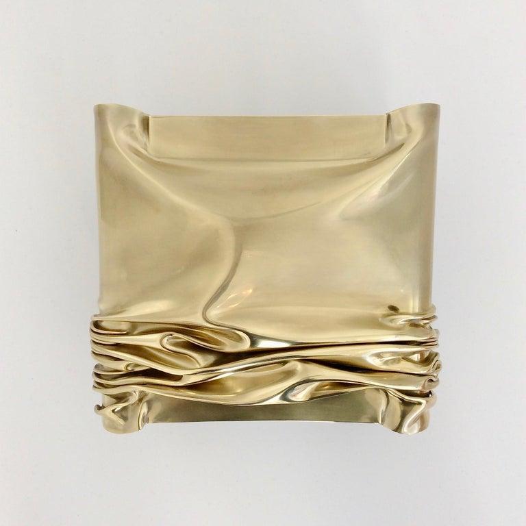 Mid-Century Modern Jacques Moniquet Pair of Brass Sconces for Cheret AAM Paris, circa 1975, France For Sale