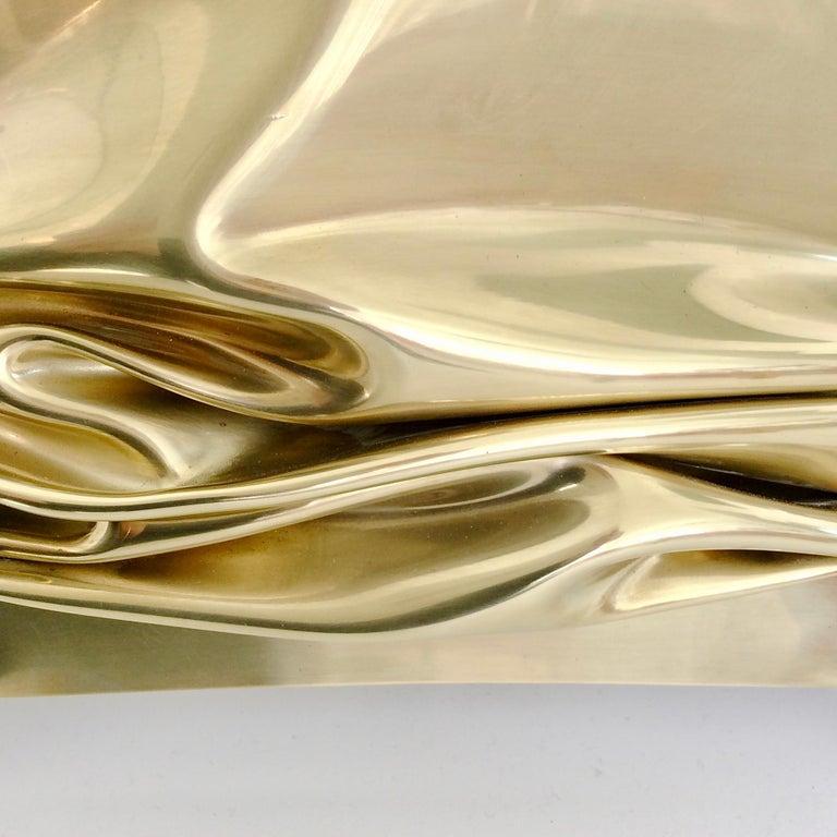 Jacques Moniquet Pair of Brass Sconces for Cheret AAM Paris, circa 1975, France For Sale 1