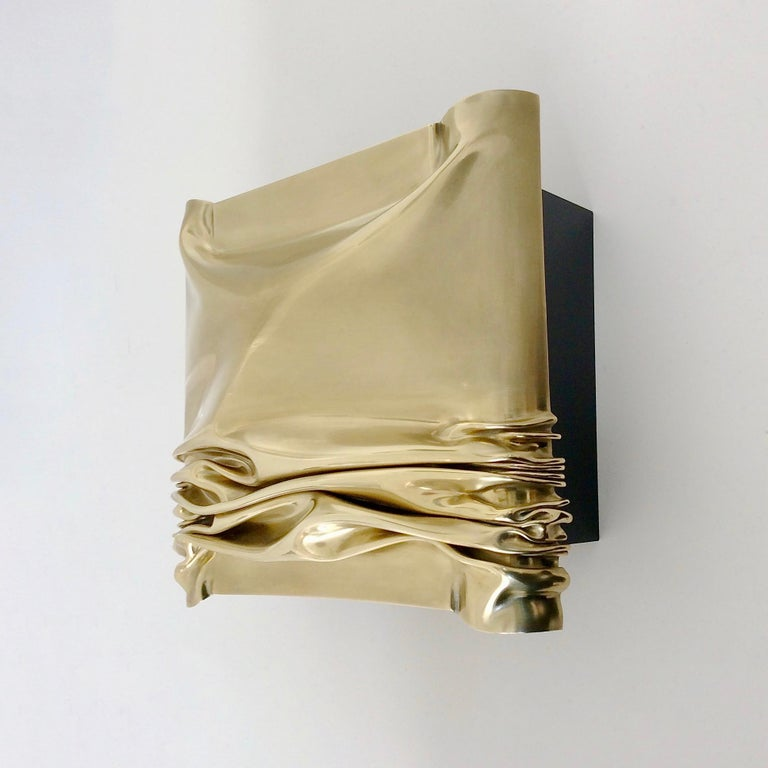 Jacques Moniquet Pair of Brass Sconces for Cheret AAM Paris, circa 1975, France For Sale 2