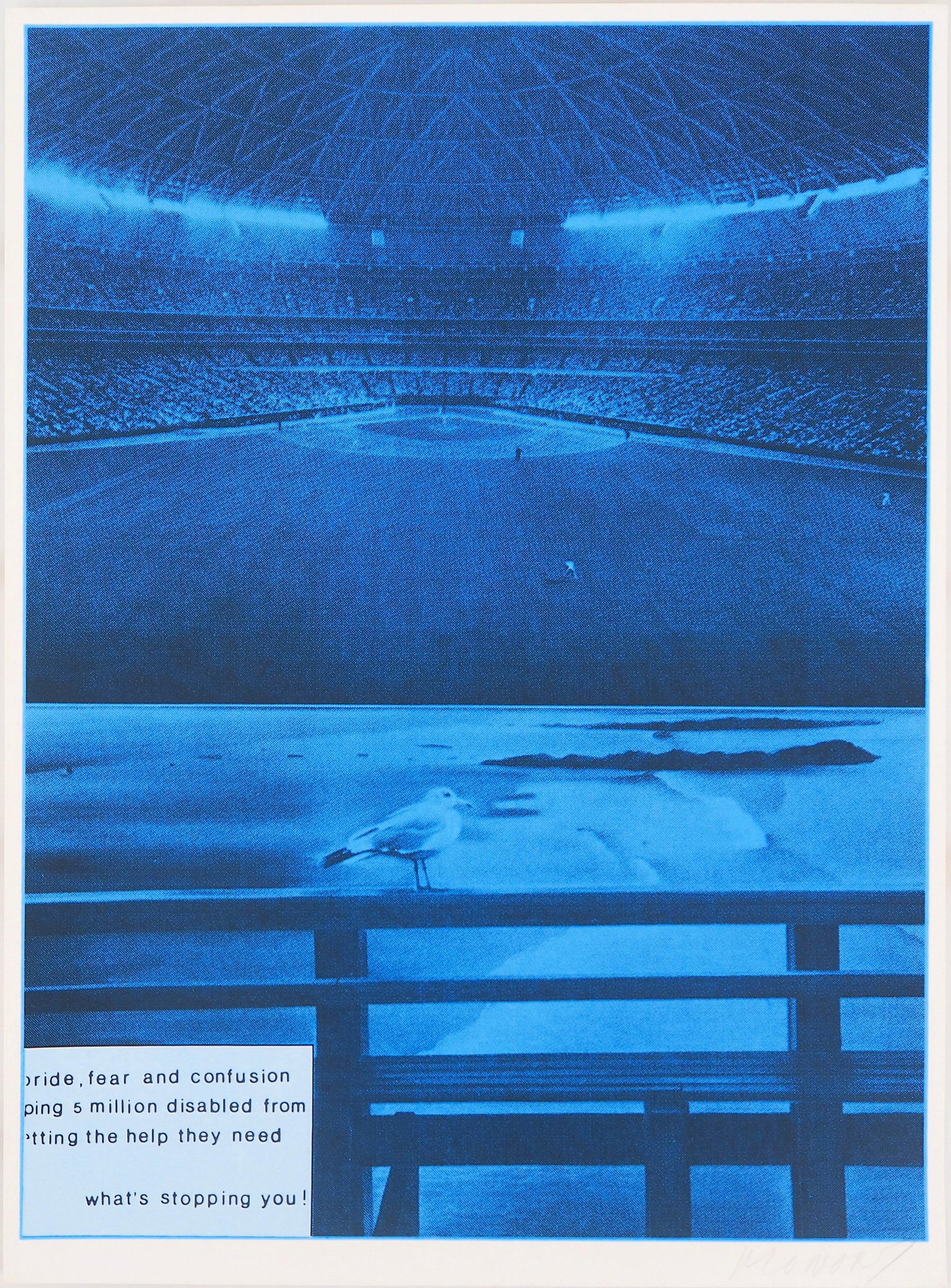 Jacques Monory - (Baseball) Pride, fear and confusion - Original Screenprint