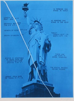 New-York : Statue of Liberty - Original Screenprint, Handsigned