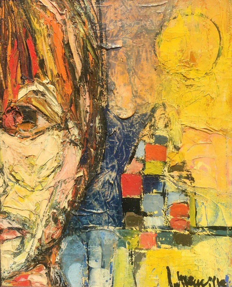 """Jacques Neuville Abstract Painting - """"Modern Woman"""""""