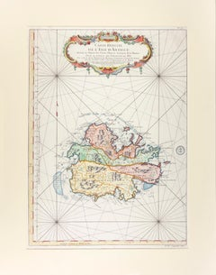 Carte Reduite de l'Isle d'Antigue (Antigua)