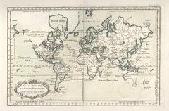 "1764 Map ""Carte Reduite Du Globe Terrestre"""