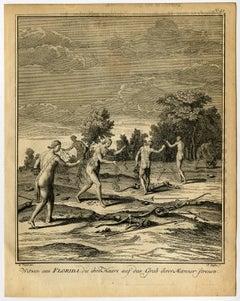 Witwen aus Florida, die Ihre Haare auf das Grab Ihrer Manner strenen.