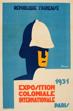 Original Vintage Art Deco Poster 1931 International Colonial Exhibition In Paris