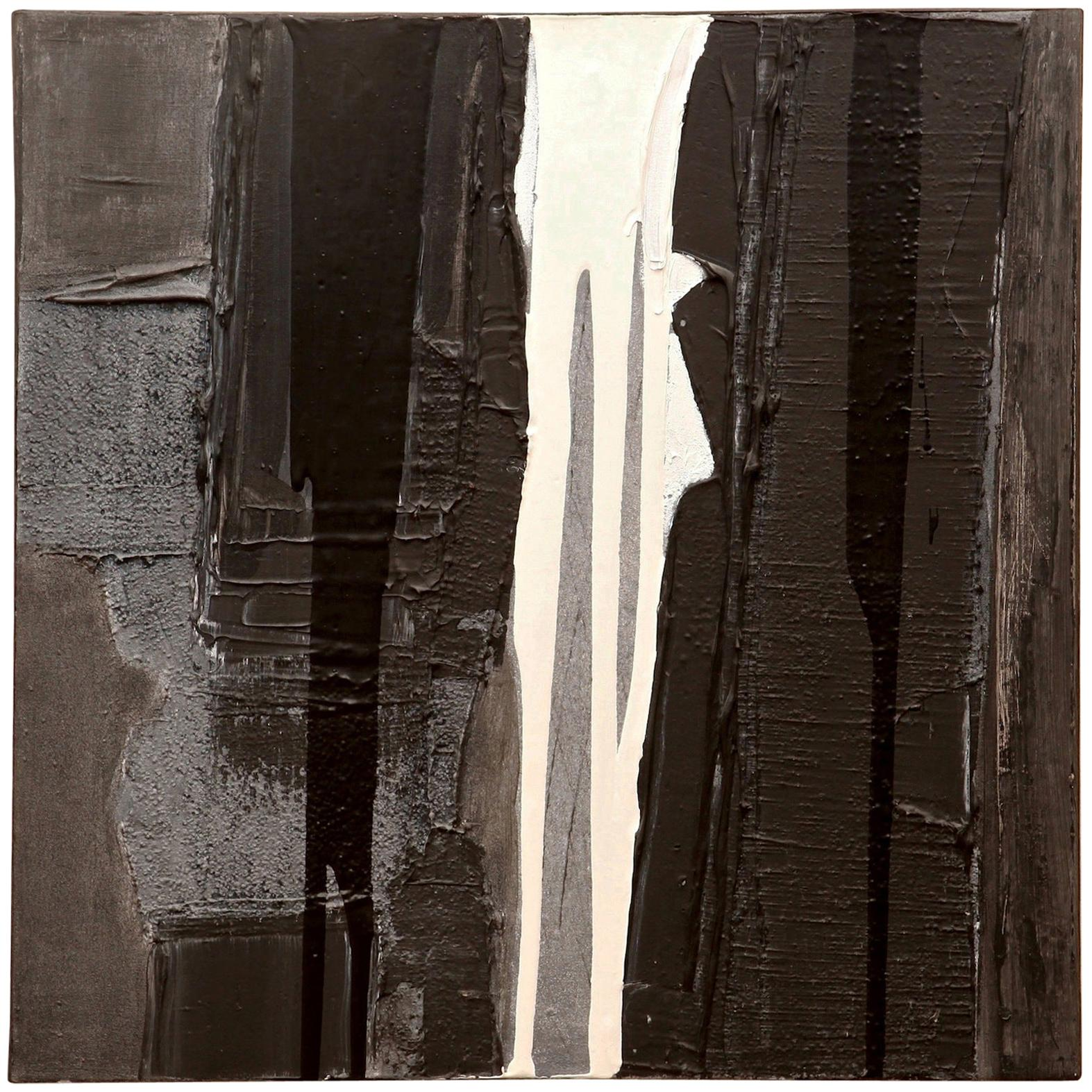 Jacques Pouchain Abstract Black and White Painting