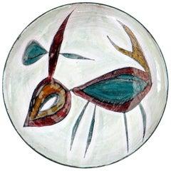 Jacques Poussine / Wall Plate, Sant Vicens, 1950s, Studio Pottery