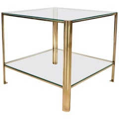Jacques Quinet French Bronze Side Table for Maison Malabert Signed Broncz