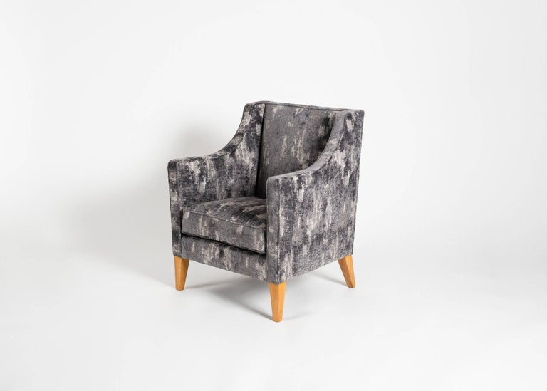 French Jacques Quinet, Pair of Armchairs, France, Mid-20th Century For Sale