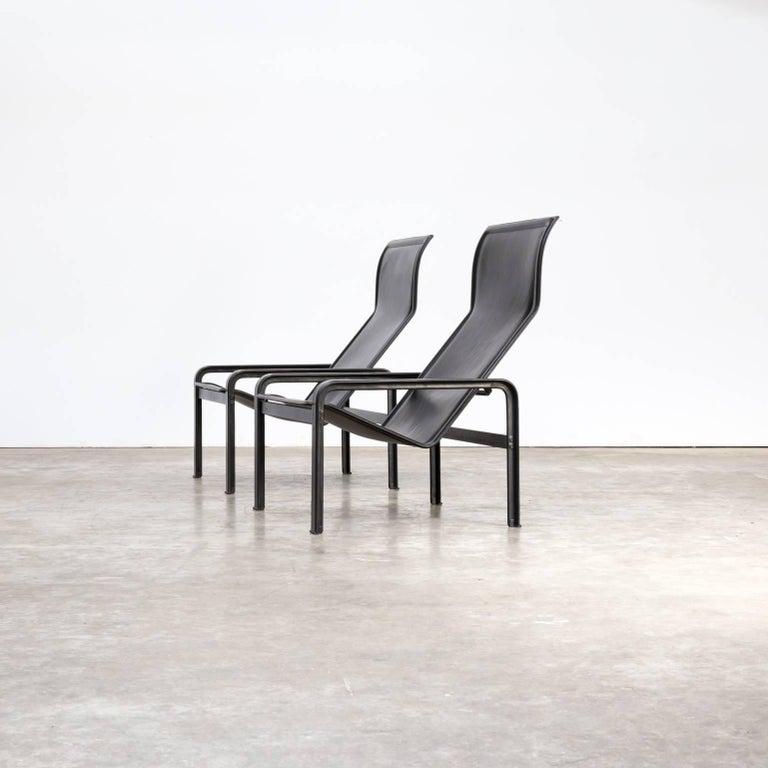 8 Zwarte Design Stoelen.Jacques Toussaint And Patrizia Angeloni Golfo Dei Poeti Lounge