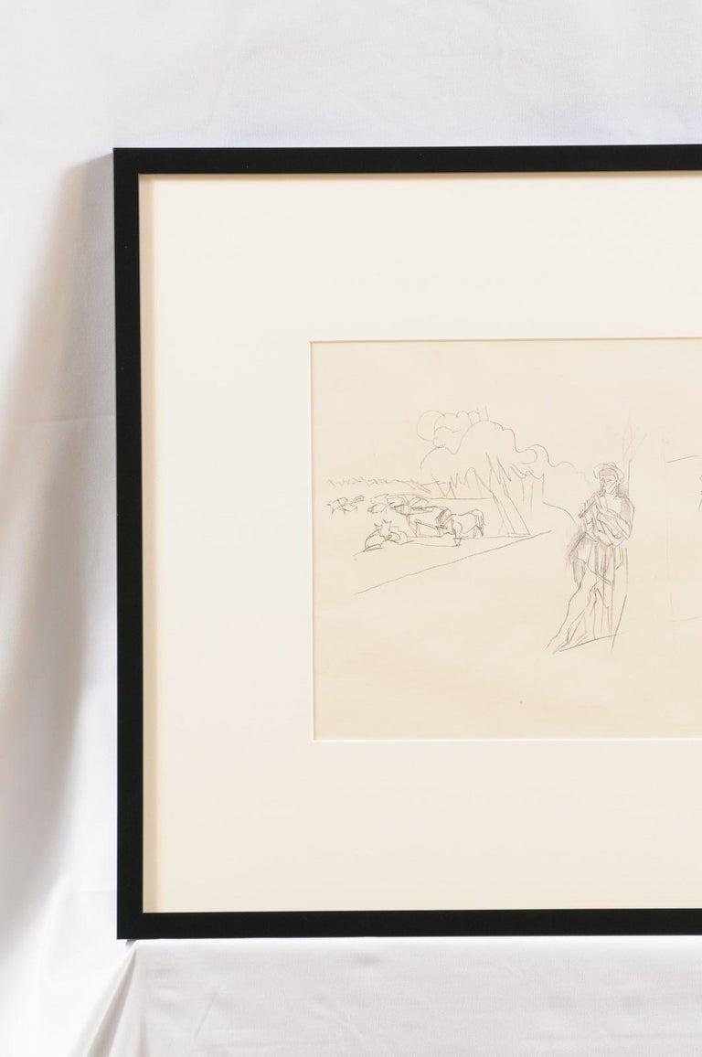 Jacques Villon - French Pastoral Scene - Lithograph In Good Condition For Sale In Atlanta, GA