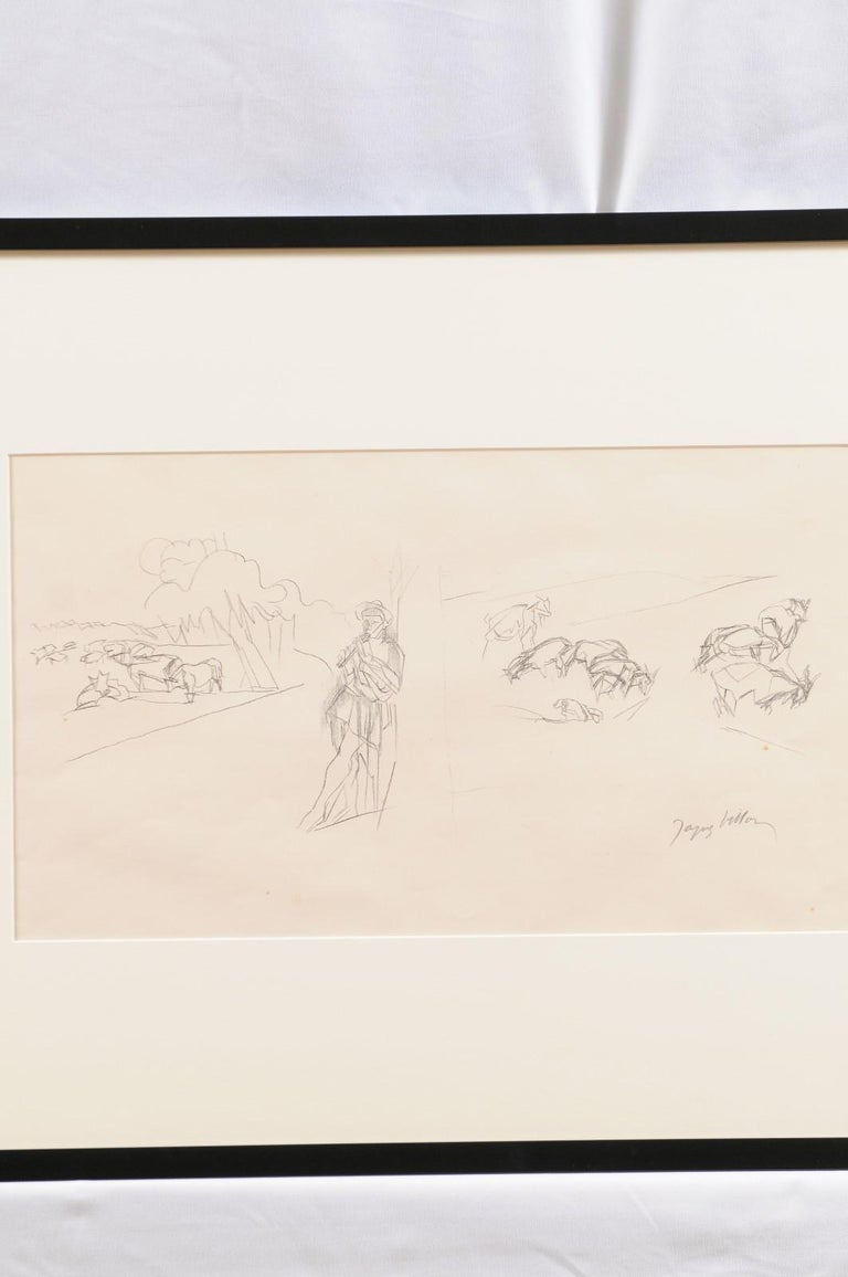 Mid-20th Century Jacques Villon - French Pastoral Scene - Lithograph For Sale