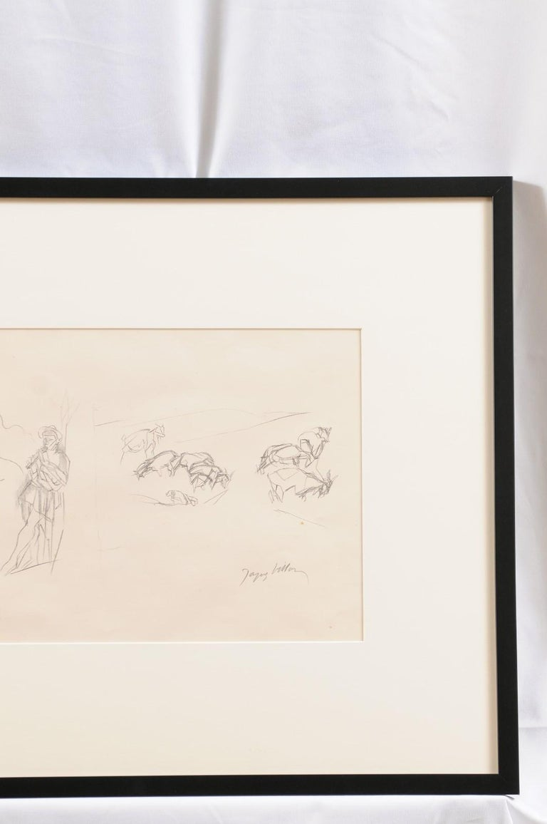 Paper Jacques Villon - French Pastoral Scene - Lithograph For Sale