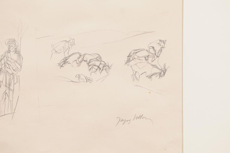 Jacques Villon - French Pastoral Scene - Lithograph For Sale 1