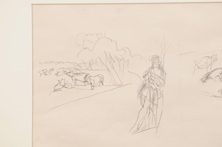 Jacques Villon - French Pastoral Scene - Lithograph For Sale 2